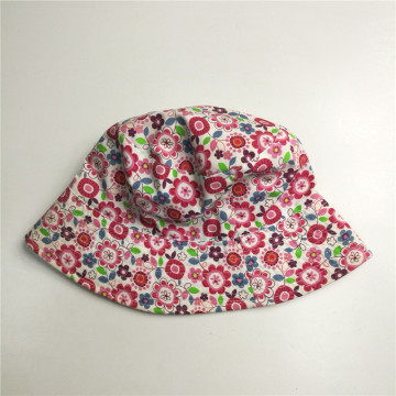 Full Flower Print Cotton Bucket Hat