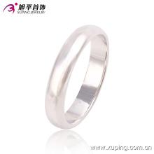 Anillo de dedo de joyería de moda Xuping simple rodio sin piedra -10762