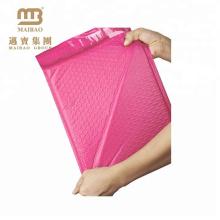 Alibaba vente chaude style lumière rose personnalisé enveloppe enveloppe affranchissement sacs à bulles