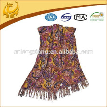 Turkish Style Wholesale Factory Low MOQ 100% Wool Pashmina Shawl Wholesale With Tassel