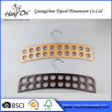 Cintre en bois de haute qualité pour cravate/ceinture