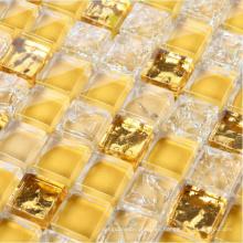 Azulejo de pared de mosaico de oro, Mosaico de vidrio (HGM344)