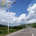 Sistema de iluminación solar solar de la luz de calle del viento 60w 70w 90w 100w de la hilera de viento 80w