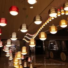 Grand lustre de fantaisie moderne de restaurant de lumière de chaîne personnalisée