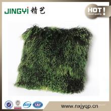 Wholesale mongol mongol mouton peau bouclés fourrure coussin