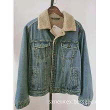 denim berber fleece collar mens casual jackets