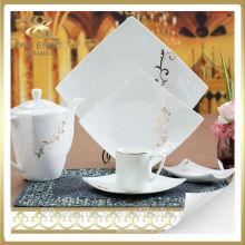 Louça de porcelana real por atacado, cerâmica decalque conjunto de placa de jantar