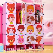 Cute Cartoon Design Commodity Shelf Cabinet Wardrobe Closet
