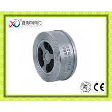 Válvula de retención de obleas de doble disco