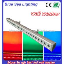 24x3w rgb 3in1 led mur laveuse lumière extérieure arbre conduit flood light