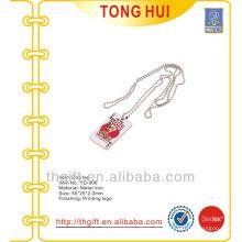 Metall Poker / Spielkarte Logo Hund Tag Halsketten für Nachahmung Schmuck