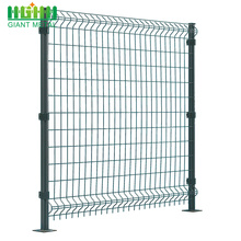 Curved Home Garden Welded 3D Wire Mesh Fence