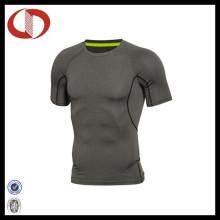 Kundenspezifische Männer Fitness Tragen Kompression Yoga Shirt