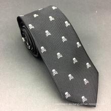Corbata de encargo de la moda del cráneo del telar jacquar de seda para hombre Fabricantes