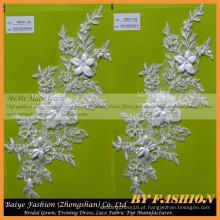 Beaded Bordados Bridal Laces Tecidos Bordados Flower Tecido Vestido de noiva com renda CMB191-1AB