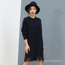 Женская 100% Кашемировый свитер кружева Подол для Оптовая