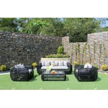 Eagle Collection - Ensemble de canapé en rotin en polyéthylène étonnant pour meubles de jardin extérieur