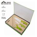 3PCS Potato Peeler & Kitchen Knife Set con caja de regalo de embalaje