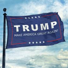 Équipement de publicité au détail Donald Trump Stick Flag