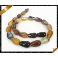 Agate naturel, gemme semi-précieuse, gros bijoux en perles de pierre (AG006)