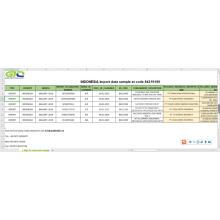 Dados de importação da Indonésia no código 842191 peças de máquina centrífuga