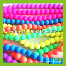 wholesale bright neon colour acryilc round rubber beads for jewelry