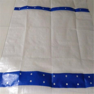 Blue Strip 150gsm Leno Tarp
