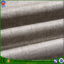 Textile Blackout Flocking Linen Polyester Fabric for Upholstery Curtain