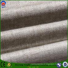 Textile Blackout Flocking Tecido de linho de poliéster para cortina estofados