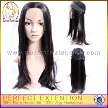 100% Virgin Remy Mongolian Straight Topper Hair Human Wigs