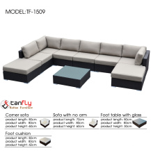 8pc outdoor patio wicker furniture set design sofa made in Foshan China.