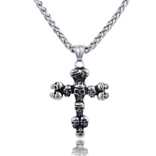 Vintage Punk Style Skull Cross Religion Pendant For Men