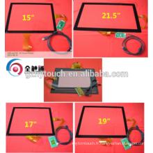 15 '' Taille de l'écran et type PCAP 15 17 Ecran tactile Multi-Capacitve de 19 pouces
