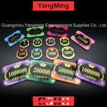Chip de póquer de cristal anti-falsificación (YM-CP30-31)