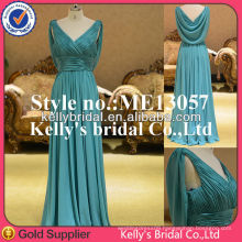 ME13057 green Plain simple EVENING DRESS