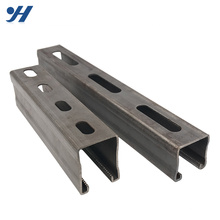 Slotted Galvanized Stainless Steel Unistrut Cold Rolled steel profile c channel