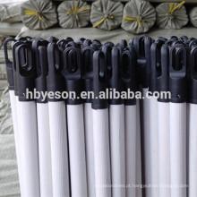 Personalizado madeira rodada PVC revestido vassoura e escova alça