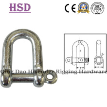 Forged D Type Shackle BS3032, G209 Bow Shackle, G210 D Shackle, G2130 Bow Shackle, G2150 D Shackle, Fastener, Rigging Hardware, Anchor Shckle, Marine Hardware