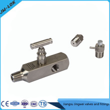 Best-selling SS high Pressure valves for pressure gauge and two-valve manifolds in china