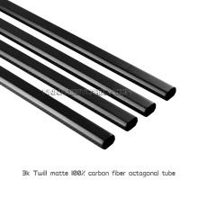 Tubos ou tubulações completos do octógono da fibra do carbono do calor - 3K resistentes