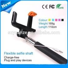 2015 nouveau bluetooth pliable selfie stick, mini selfie stick monopod, poche selfie stick avec bluetooth