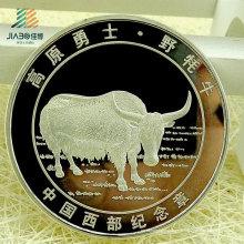 Chine en gros cadeau promotionnel personnalisé argent commémorative ou pièce de souvenir