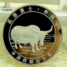 China Wholesale Promotional Gift Custom Silver Commemorative or Souvenir Coin