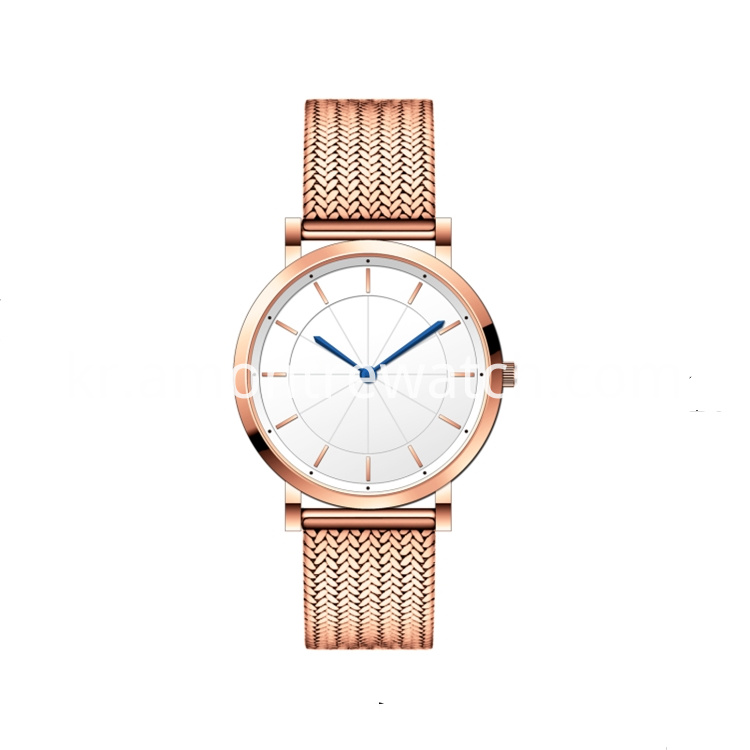 Rose Gold Slim Watch