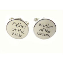 Gemas de zinco e esmalte macio (pai e irmão) abotoaduras