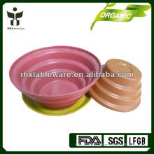 bamboo plant fiber flower pot
