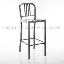Chaise de bar classique en métal argenté en métal (SP-MC044)