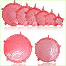 Hot selling Set of 8 silicone stretch lids