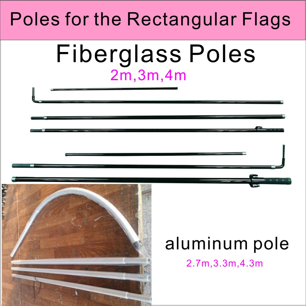 rectangular flags pole