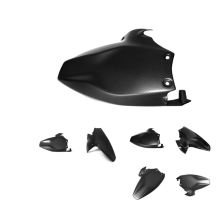 Genuine carbon motorbike rear fender